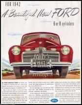 Ford Car V-8 1942  Advertising Antique Vintage Dealer Magazine Ad Poster - $7.47