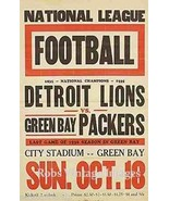 Detroit Lion Vs Green Bay Packers  Poster 1936 ... - $8.90