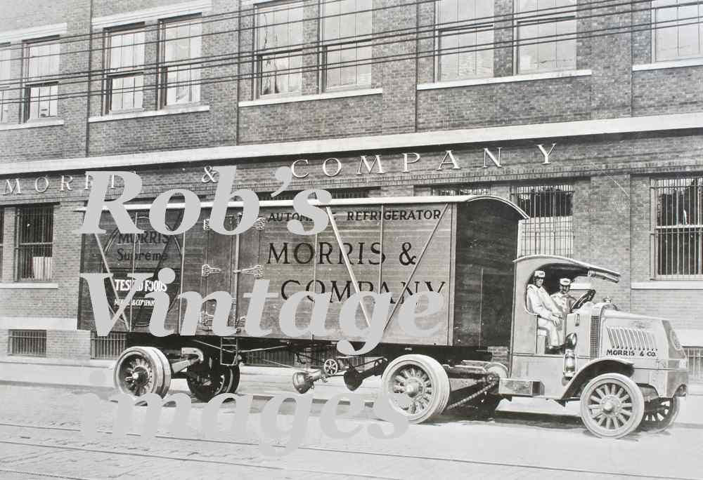 Vintage   Mack Semi Truck 1914 Refrigerator trailer photo print