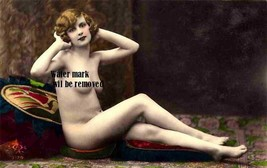 Old Vintage Antique Lovely French Photo Reprint 227nude - $8.90