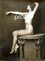 """Old French Vintage Antique Nude Photo  """"Statuesque"""" Pose Erotic Model 288 - $8.90"""