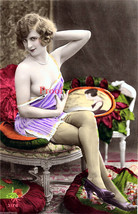 French Nude Model Take A Look Old Vintage Antique Early 1900s Photo Repr... - $8.90