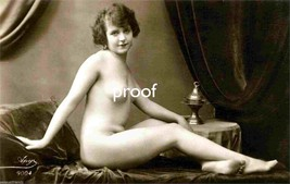French Model Old Vintage Antique Innocent Nude Early 1900s Photo Reprint... - $8.66