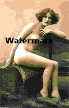 French Nude Glamour Girl Old Vintage Antique Lovely Photo Reprint 237 - $8.66