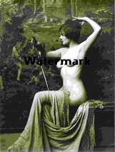 Glamour Girl Old French Nude Vintage Antique Lovely Photo Reprint 290 Ex... - $8.90