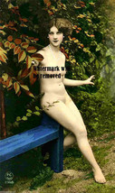 Vintage Antique French Photo Lovely nude woman model 1890's Reprint 236 - $8.90