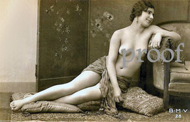 French Model Old Vintage Antique Nude Inncense Early 1900s Photo Reprint... - $8.90
