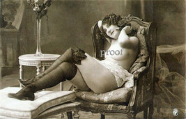 French  Nude Model Old Vintage Antique Incense Early 1900s Photo Reprint... - $8.90