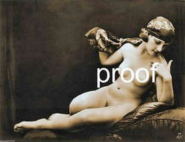 """Old French Vintage Antique Nude Photo  """"Simple Innocence"""" Pose Erotic Mo... - $8.90"""