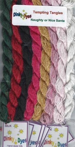 SILK FLOSS PACK for Naughty or Nice Santa cross stitch chart Dinky Dyes - $28.80