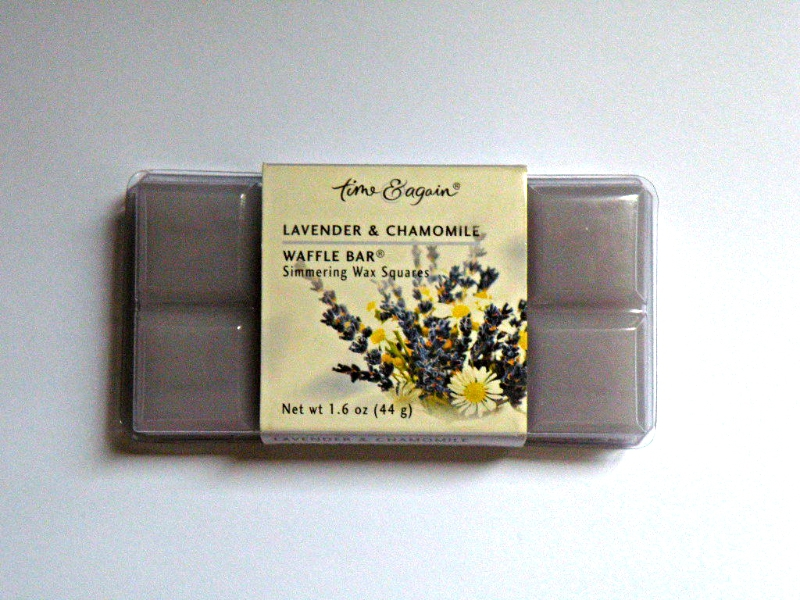 ~ THE BEAUTY BOOTH ~ Lavender & Chamomile Waffle Wax Tart Bar Melt from TIME & A