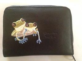 Frog Leather Wallet Credit Card / ID Holder Tree Frog - $18.00