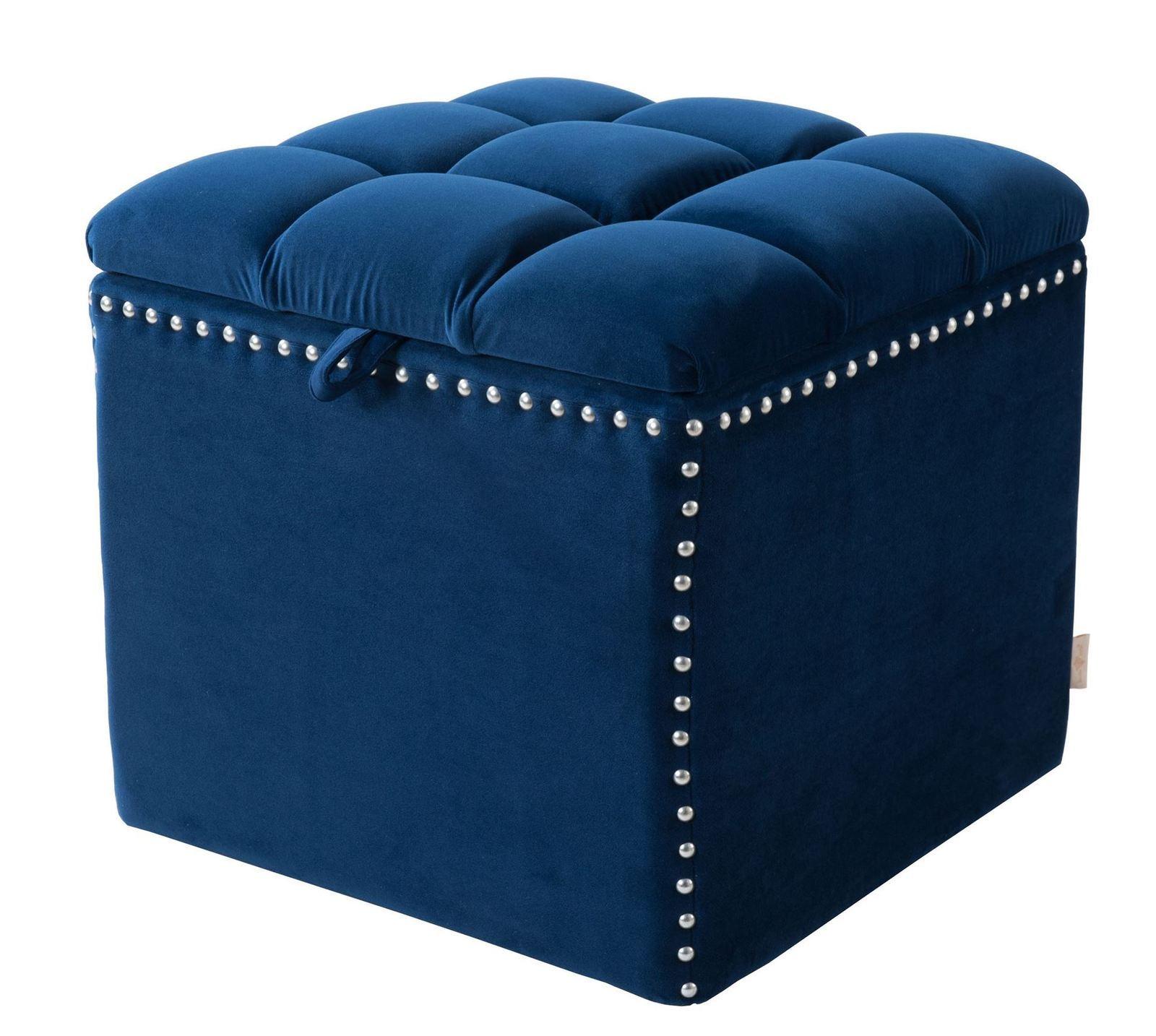 jennifer taylor home natalia storage ottoman navy blue ottomans footstools poufs. Black Bedroom Furniture Sets. Home Design Ideas