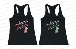Best Friend Matching Summer Beach Tank Tops - Hakuna Matata Pineapple fo... - $36.99+