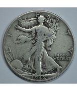 1942 D Walking liberty circulated silver half dollar - $14.50