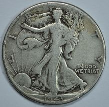 1943 P Walking liberty circulated silver half dollar - $14.15