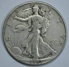 1947 D Walking liberty circulated silver half dollar - $15.75