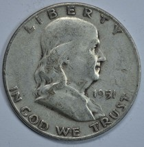1951 S Franklin circulated silver half dollar - $13.75