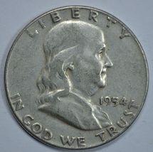 1954 P Franklin circulated silver half dollar - $13.50