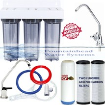 3 Stage Under Sink Fluoride/Arsenic/Kdf55 Heavy Metals Filters Faucet Choices. - $119.79