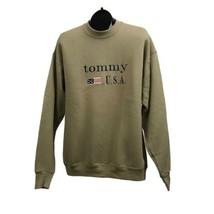 1990s Tommy Bootleg Sweatshirt / Late 90s 2000 Beige Cotton Sweatshirt /... - $69.00