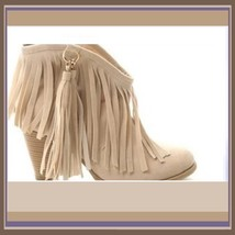 Western Style Martin Heel Suede Leather Fringed with Tassel 2.5 inch Ankle Boot image 4