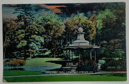 Old UDB Back Lithographed Hand Tinted Postcard Congress Park, Saratoga S... - $14.65