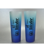 2 el Jimador Blue Frosted Pair Tall Shooter Shot Glasses - $5.00
