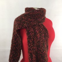 Cejon Winter Knit Scarf Pink Berries Soft Plush Sparkly Melange Stretch ... - $19.99
