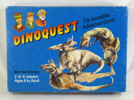 Dinoquest 1989 Second Edition Board Game 95% Complete Excellent Rare - $12.75
