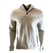 Tasso Elba Men's Beige Mocha Heather Shawl Collar French Rib Pullover Sw... - $570,21 MXN