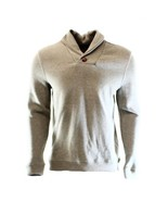 Tasso Elba Men's Beige Mocha Heather Shawl Collar French Rib Pullover Sw... - $24.99