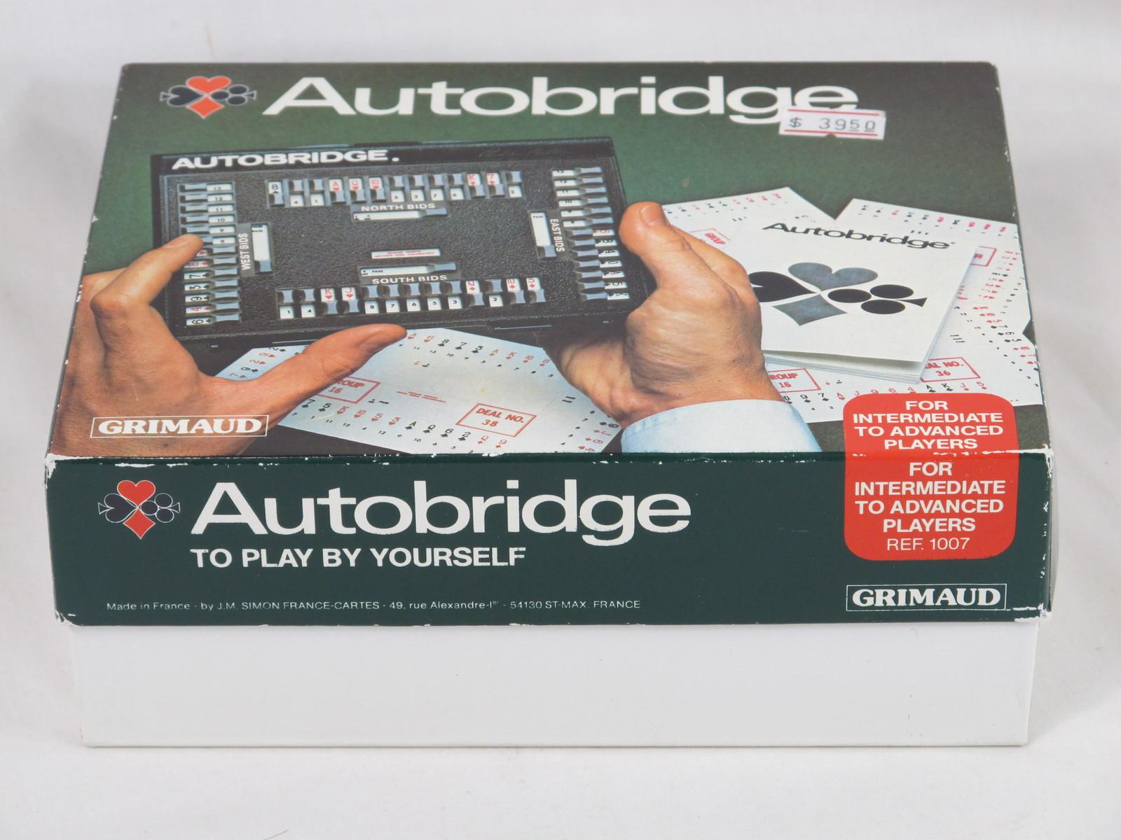 Autobridge bridge 1985 intermediate complete grimaud 3 for Charity motors bridge card