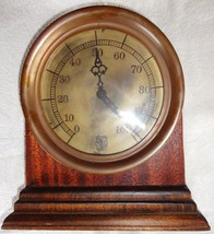 ANTIQUE SOLID BRASS STEAM PRESSURE GAUGE CLOCK - $194.99