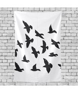 Living Room Wall Decor Black Bird Quiet Mysterious Pattern Bed Wall Hanging 40x6 - £21.17 GBP