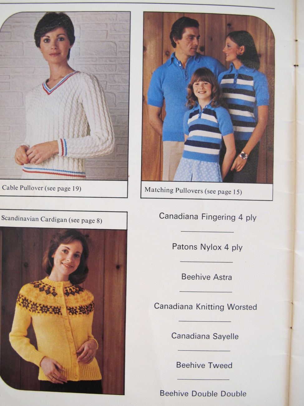 Vintage Patons Knitting Patterns Cardigans Sweaters Vests Pullovers FAMILY