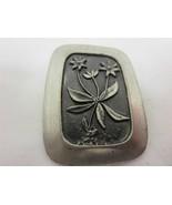 Vintage R. TENNESMED SWEDEN PEWTER Tenn flowers... - $14.84