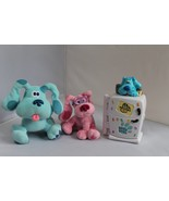 BLUE CLUES 3 TOYS TALKING FRIDGE & TWO Plush.Learning Toy.Clean Plush - $19.75