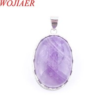 2019 Love Summer Egg Shape Decoration Amethysts Stone Statement Suspensi... - $9.69