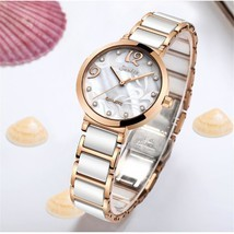 Women's Modern Waterproof Sunkta Wrist Watch With Ceramic Bracelet And Z... - $79.00