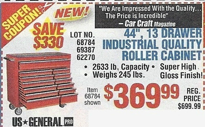 Harbor Freight 44 Tool Chest Coupon Vans Coupons August 2018