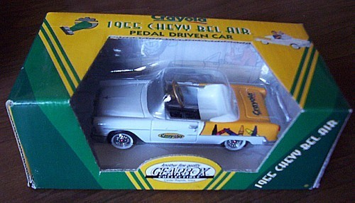GEARBOX 1955 Chevrolet Bel Air CRAYOLA toy Pedal Car NIB Chevy