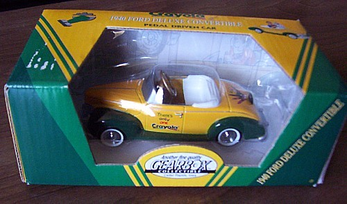 GEARBOX 1940 Ford Deluxe Convertible CRAYOLA Pedal Car NIB