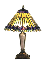 "Meyda Home Indoor Decorative 17""H Tiffany Jeweled Peacock Accent Lamp 12... - $217.80"