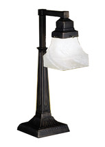 "Meyda Home Indoor 20""H Bungalow White Alabaster Swirl Desk Lamp 1235-27624 - $181.44"