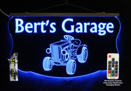 Personalized Tractor Sign,  Gift for Dad,  LED Multi-Color Changing, Mancave - $96.03+