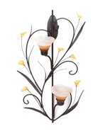 Koehler Home Decorative Gift Amber Lilies Candle Wall Sconce 1066-10015809 - $36.00