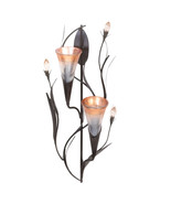 Koehler Kitchen Decorative Gift Dawn Lilies Candle Wall Sconce 1066-1001... - $37.60