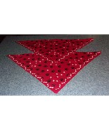 Two Brand New Red Paw Print Dog Bone Design Dog Bandanas For Dog Rescue ... - $9.39