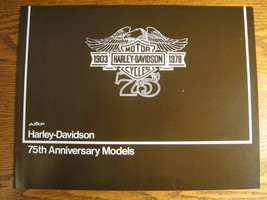 1978 Harley Davidson 75th Anniv Brochure XL1000 Sportster FLH 1200 Elect... - $30.69